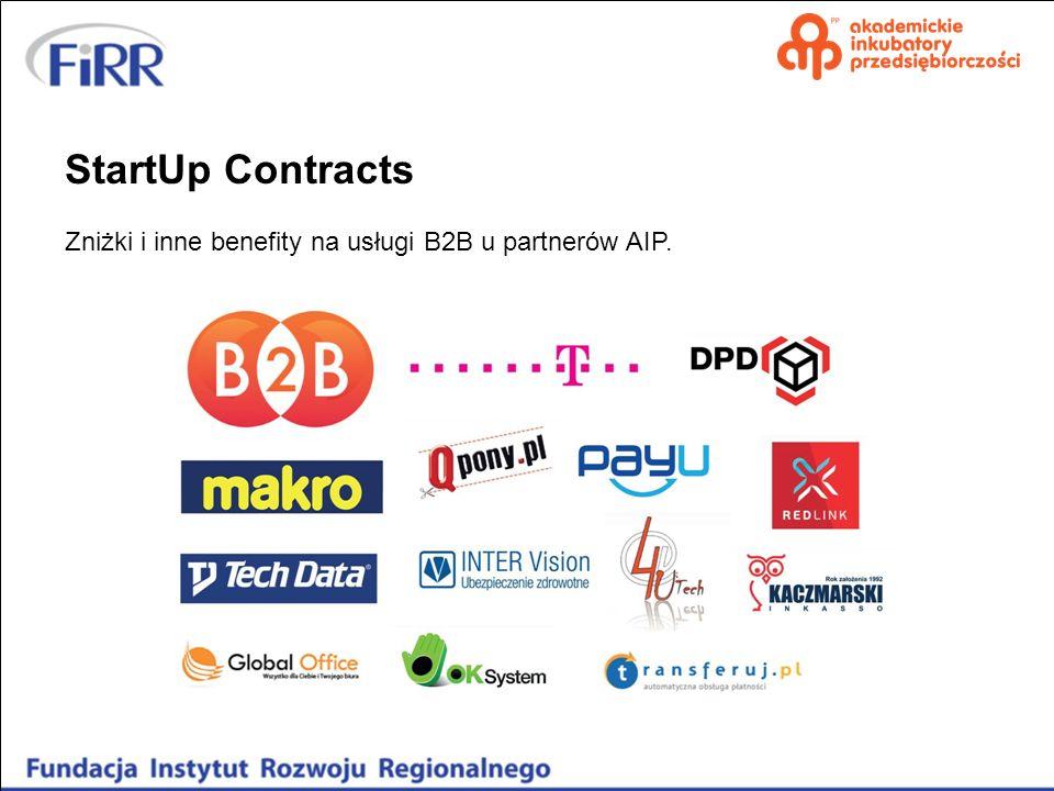 StartUp Contracts Zniżki i inne benefity na usługi B2B u partnerów AIP.