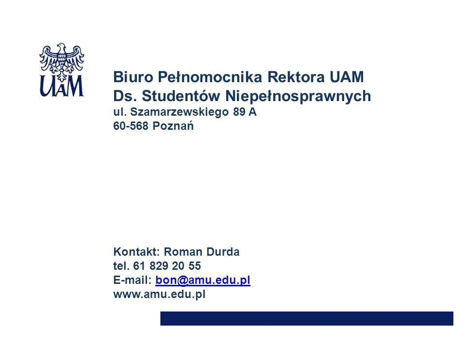 Biuro Pełnomocnika Rektora UAM Ds. Studentów Niepełnosprawnych