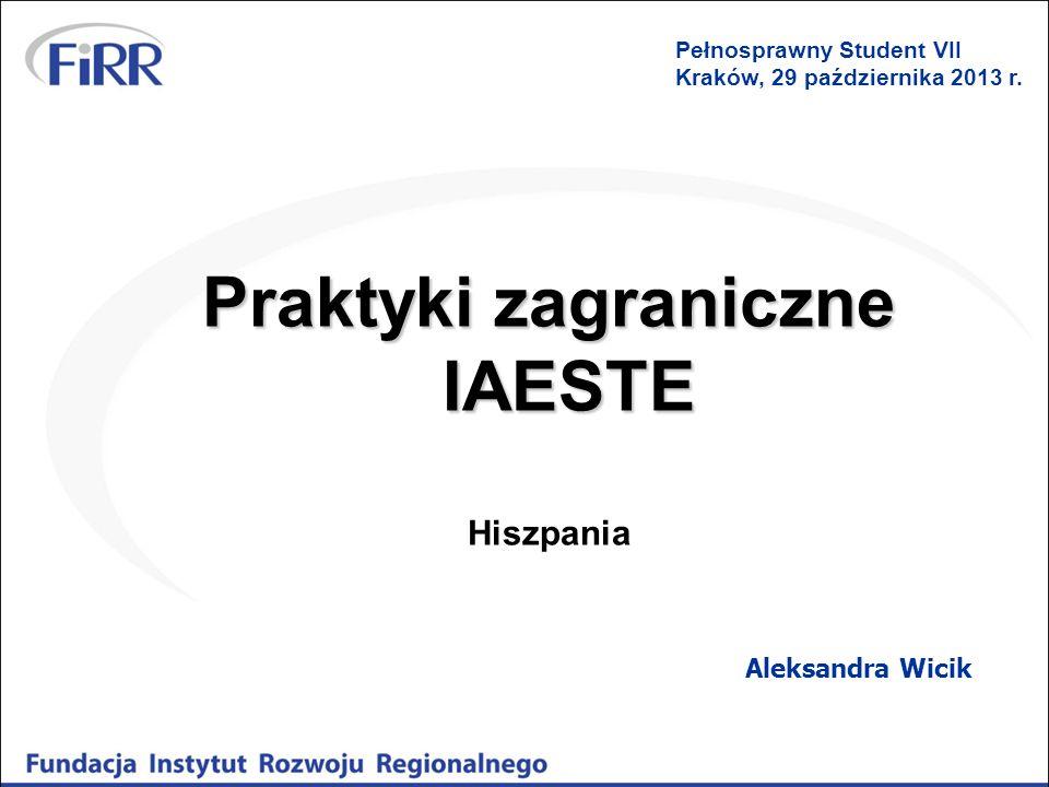 Praktyki zagraniczne IAESTE