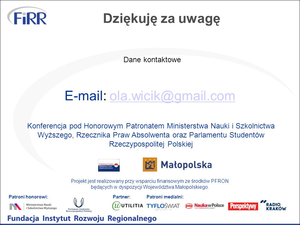 E-mail: ola.wicik@gmail.com