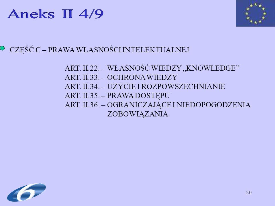 Aneks II 4/9 CZĘŚĆ C – PRAWA WŁASNOŚCI INTELEKTUALNEJ