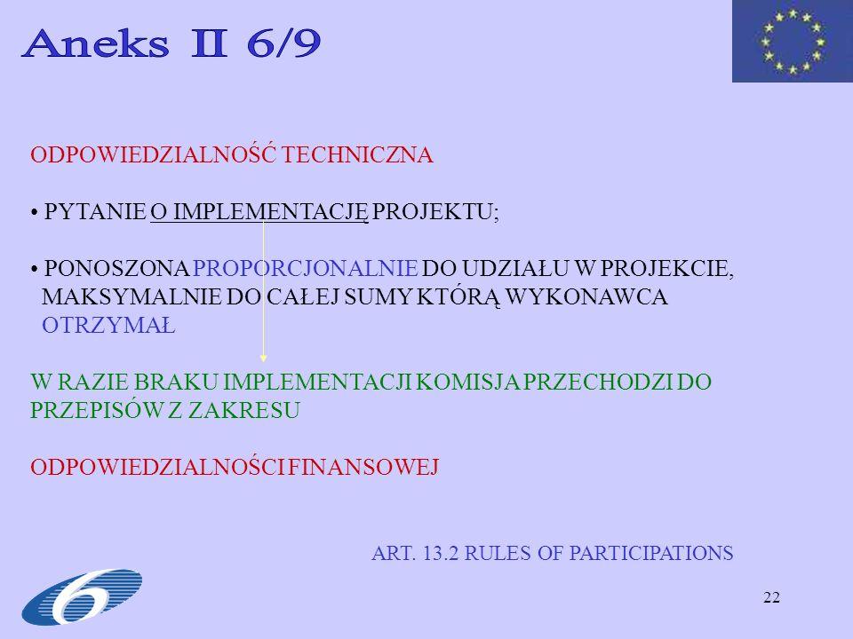 Aneks II 6/9 ODPOWIEDZIALNOŚĆ TECHNICZNA