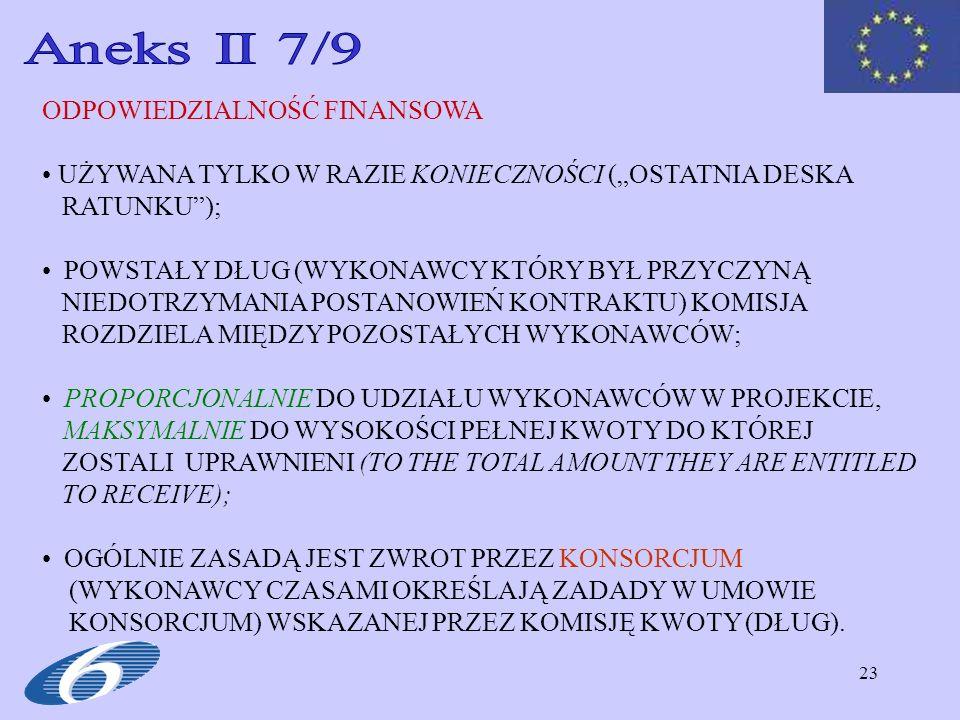 Aneks II 7/9 ODPOWIEDZIALNOŚĆ FINANSOWA