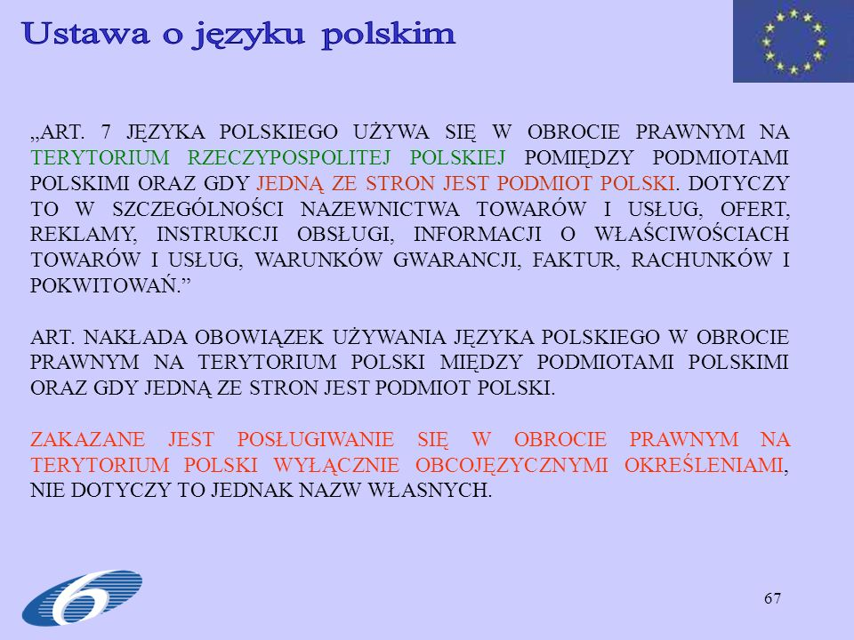 Ustawa o języku polskim