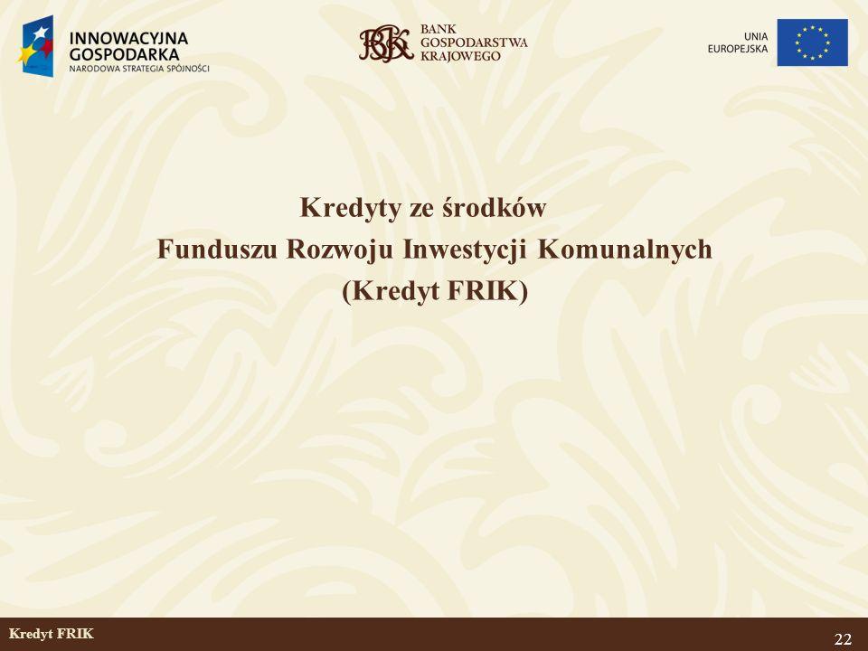 Funduszu Rozwoju Inwestycji Komunalnych