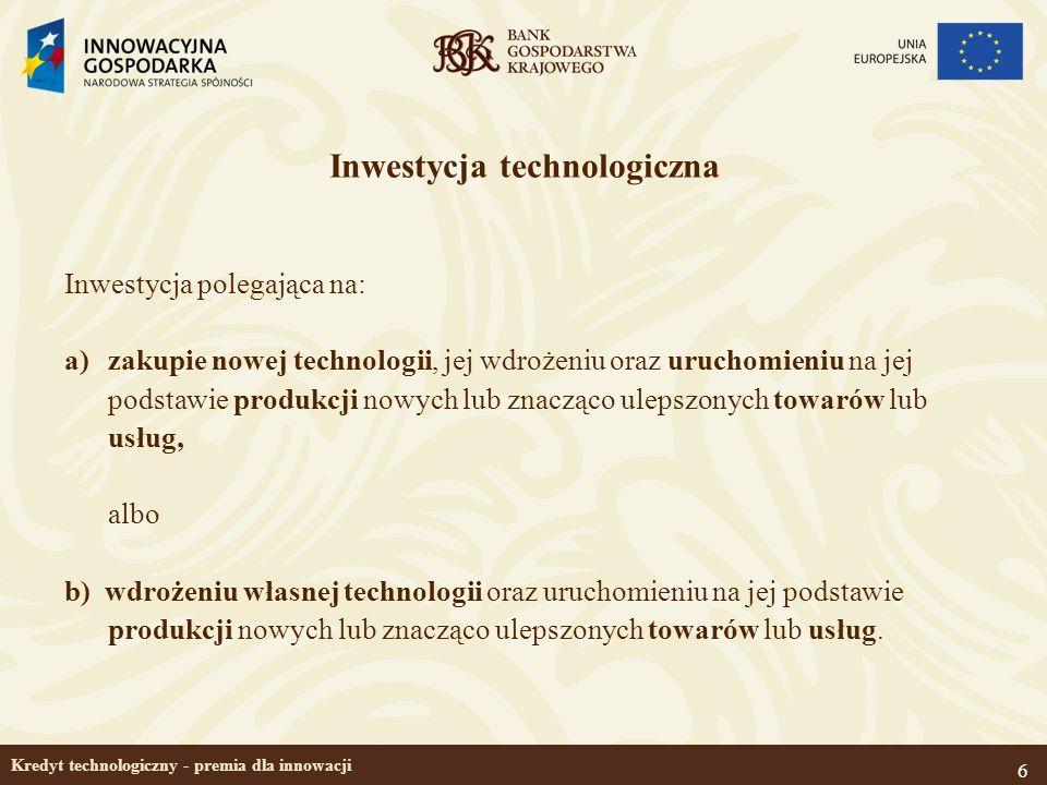 Kredyt technologiczny - premia dla innowacji