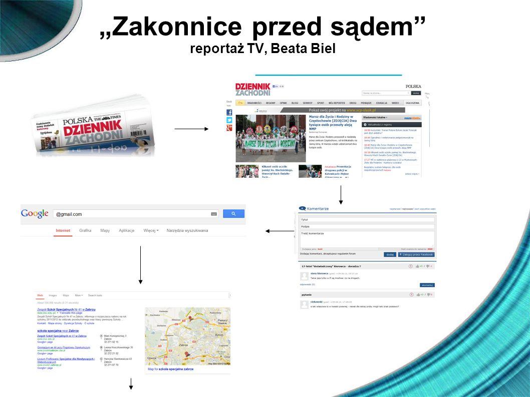 """""""Zakonnice przed sądem reportaż TV, Beata Biel"""