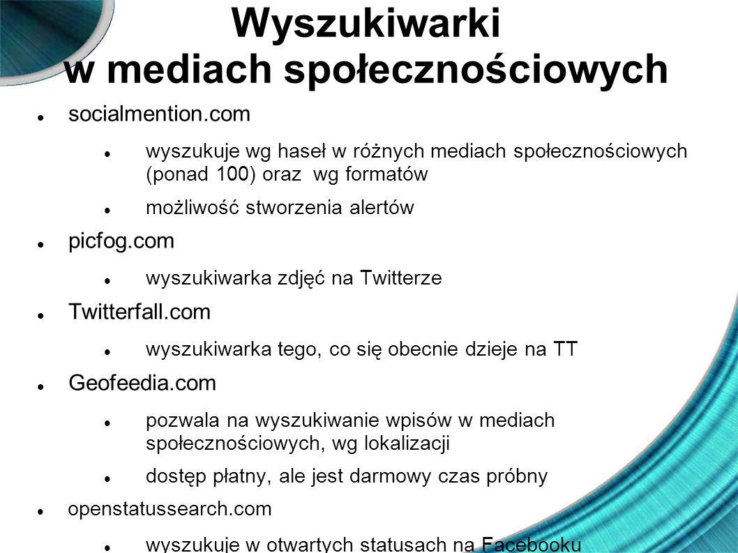 Wyszukiwarki w mediach społecznościowych