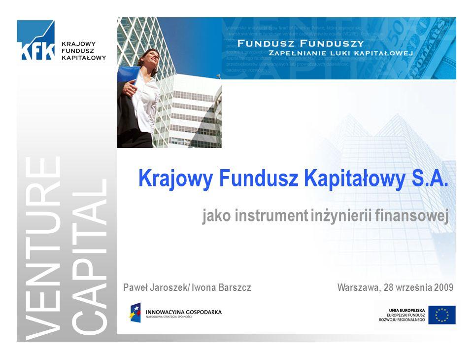 VENTURE CAPITAL Krajowy Fundusz Kapitałowy S.A.