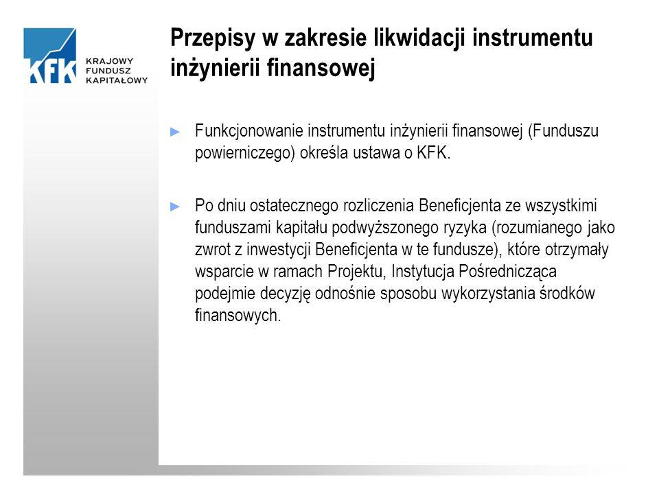 Przepisy w zakresie likwidacji instrumentu inżynierii finansowej