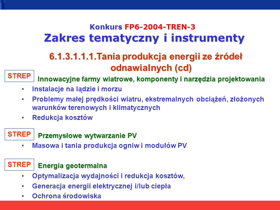 6.1.3.1.1.1.Tania produkcja energii ze źródeł odnawialnych (cd)