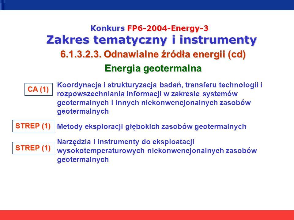 6.1.3.2.3. Odnawialne źródła energii (cd) Energia geotermalna