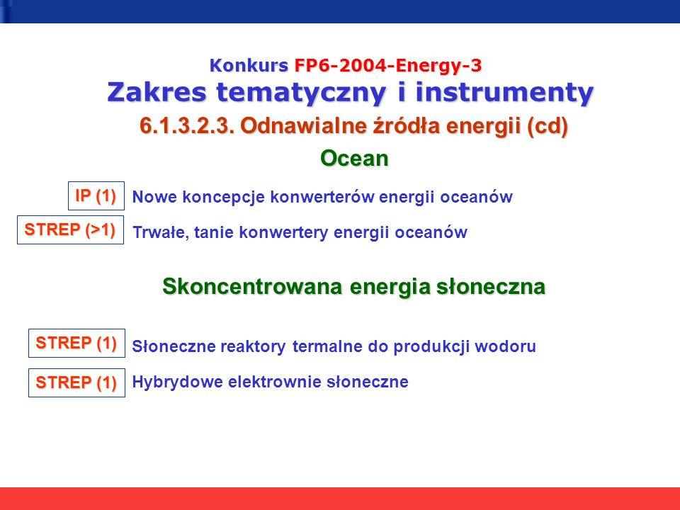 6.1.3.2.3. Odnawialne źródła energii (cd) Ocean