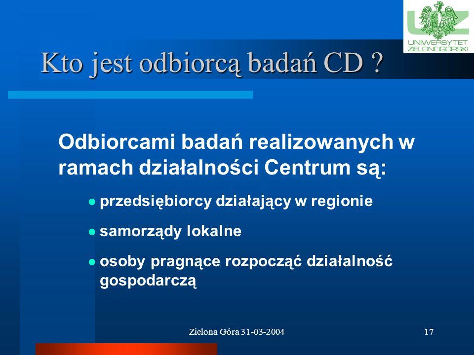 Kto jest odbiorcą badań CD