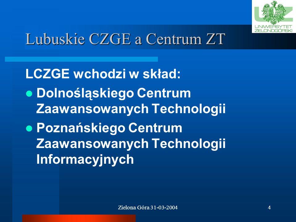 Lubuskie CZGE a Centrum ZT