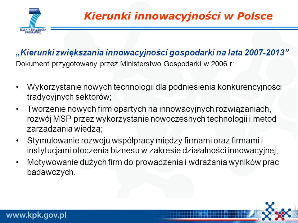 Kierunki innowacyjności w Polsce