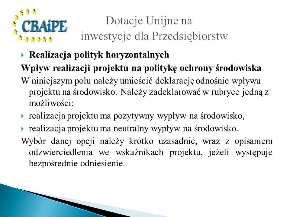 Realizacja polityk horyzontalnych