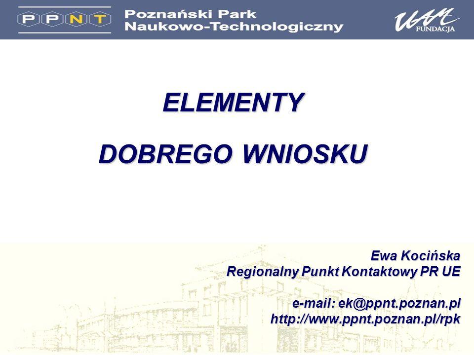 ELEMENTY DOBREGO WNIOSKU