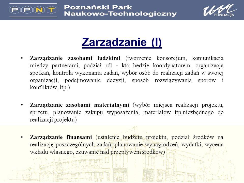 Zarządzanie (I)