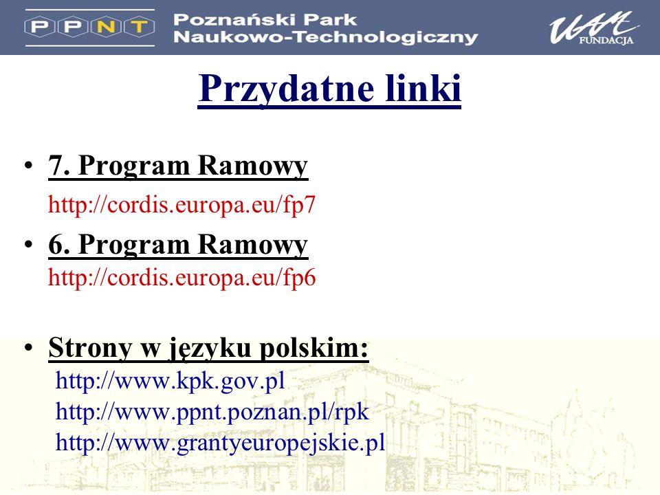 Przydatne linki 7. Program Ramowy
