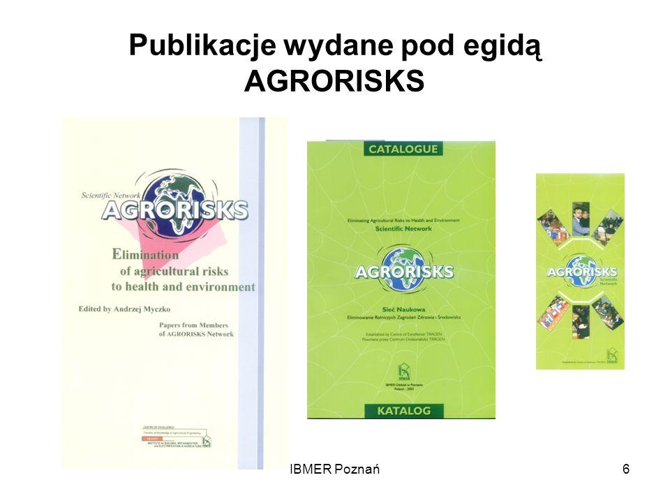 Publikacje wydane pod egidą AGRORISKS