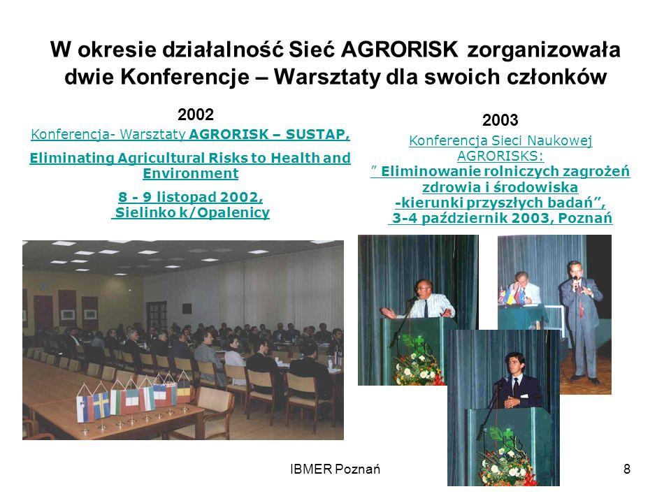 W okresie działalność Sieć AGRORISK zorganizowała dwie Konferencje – Warsztaty dla swoich członków