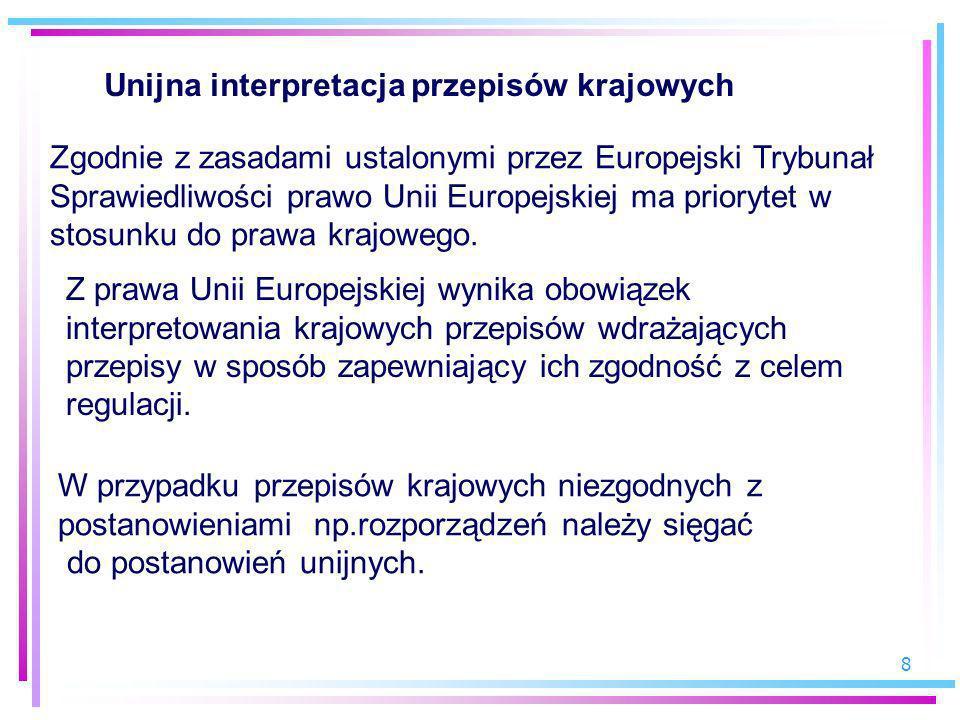 Unijna interpretacja przepisów krajowych