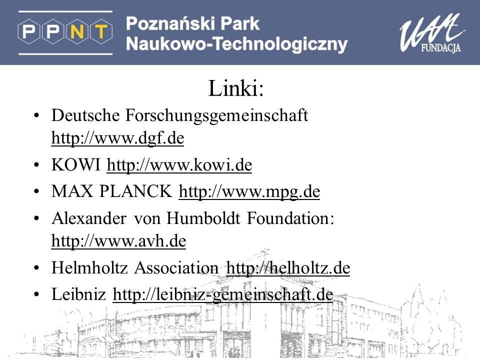 Linki: Deutsche Forschungsgemeinschaft http://www.dgf.de