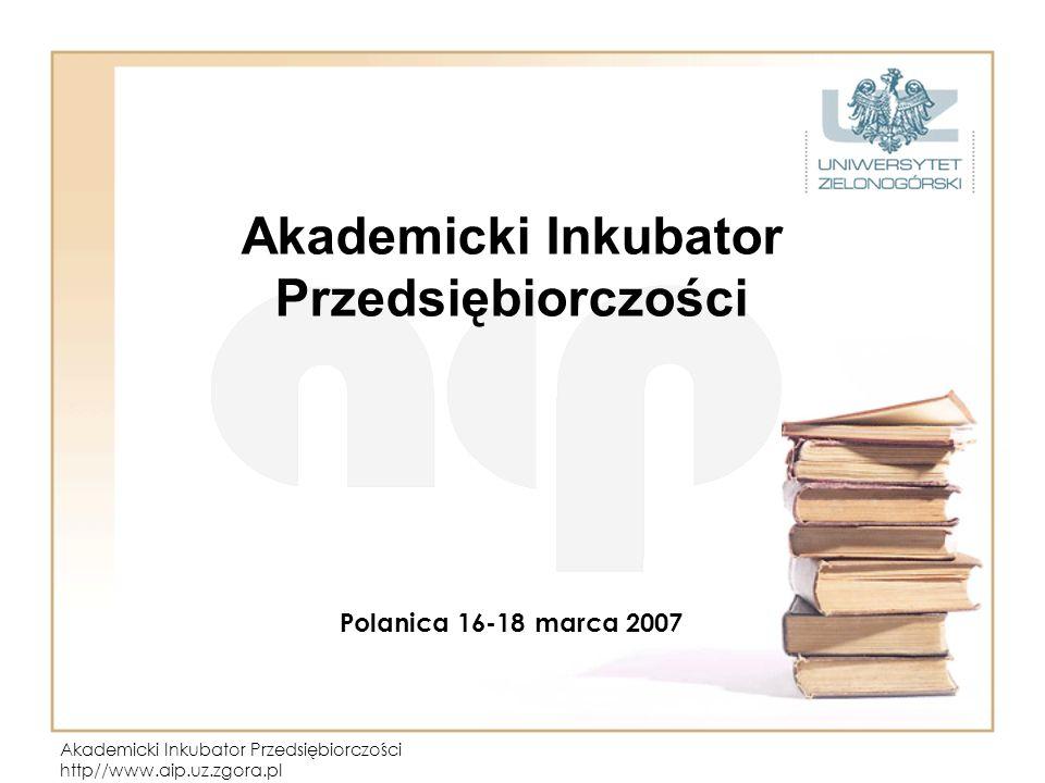Akademicki Inkubator Przedsiębiorczości Polanica 16-18 marca 2007