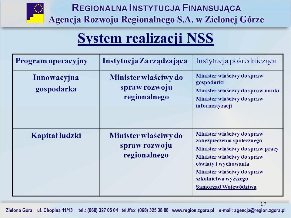 Minister właściwy do spraw rozwoju regionalnego