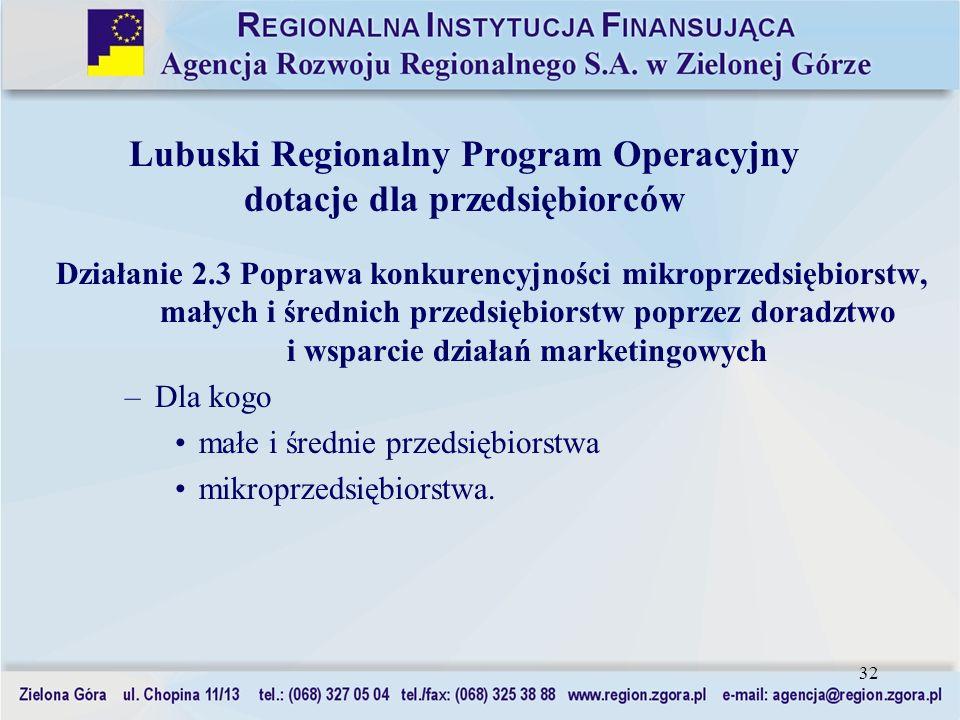 Lubuski Regionalny Program Operacyjny dotacje dla przedsiębiorców