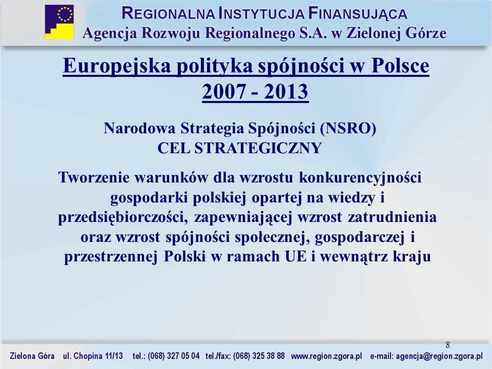 Europejska polityka spójności w Polsce 2007 - 2013