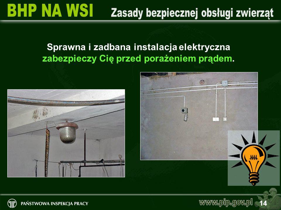 Sprawna i zadbana instalacja elektryczna zabezpieczy Cię przed porażeniem prądem.