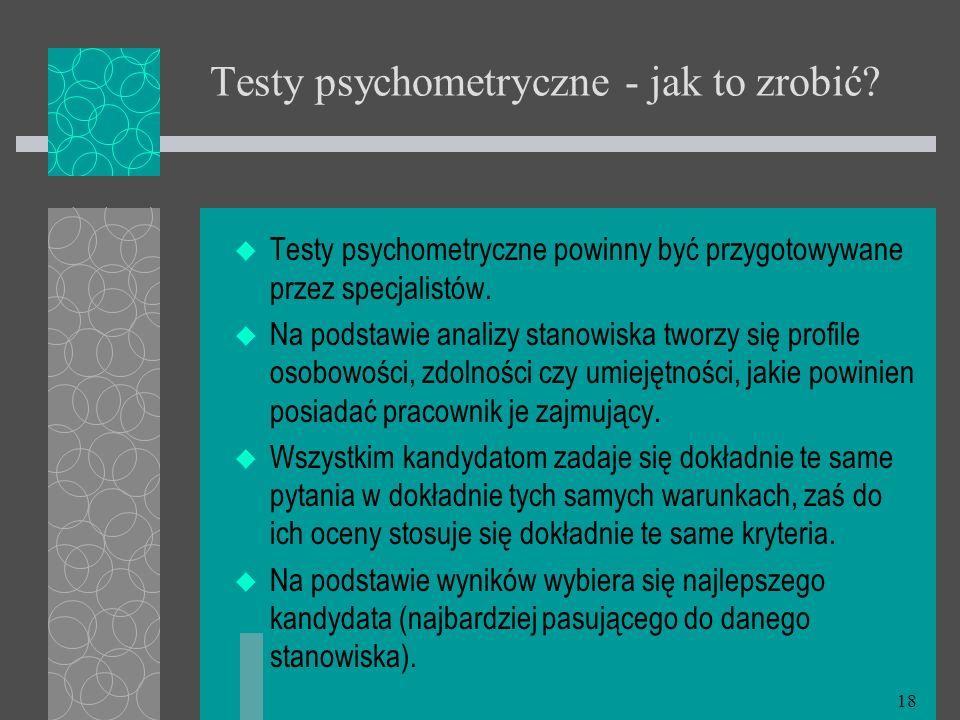 Testy psychometryczne - jak to zrobić