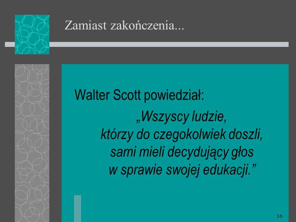 Walter Scott powiedział: