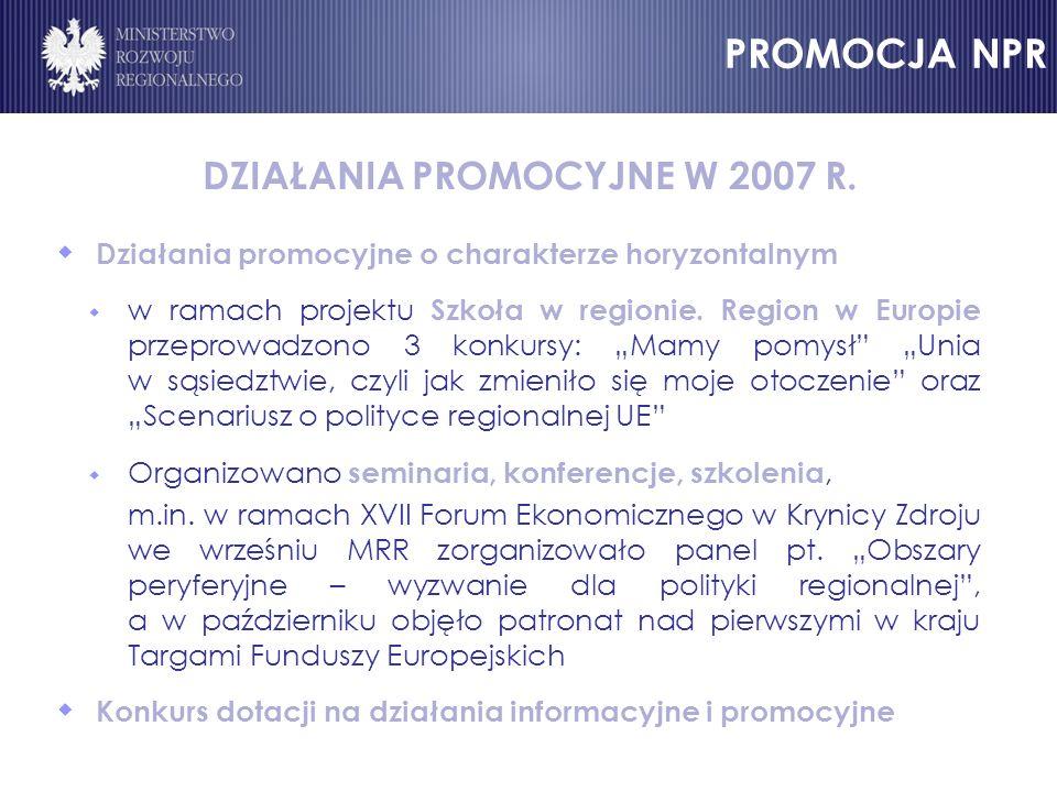 DZIAŁANIA PROMOCYJNE W 2007 R.