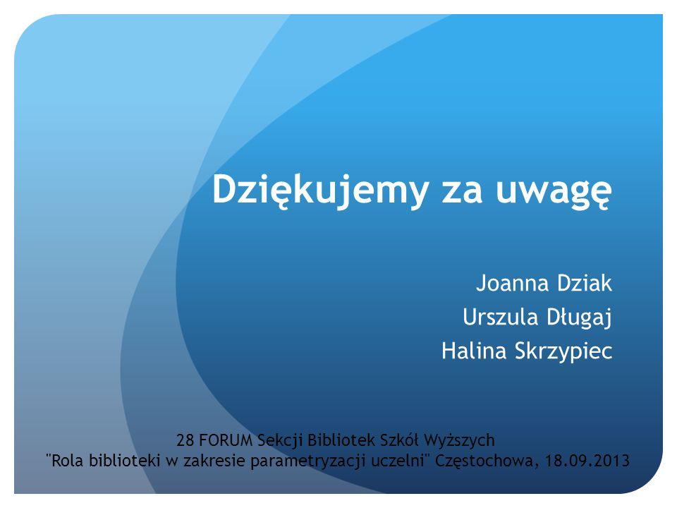 Joanna Dziak Urszula Długaj Halina Skrzypiec