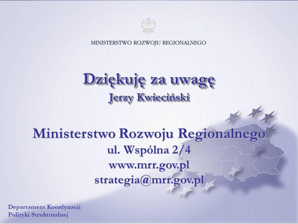 Dziękuję za uwagę Jerzy Kwieciński