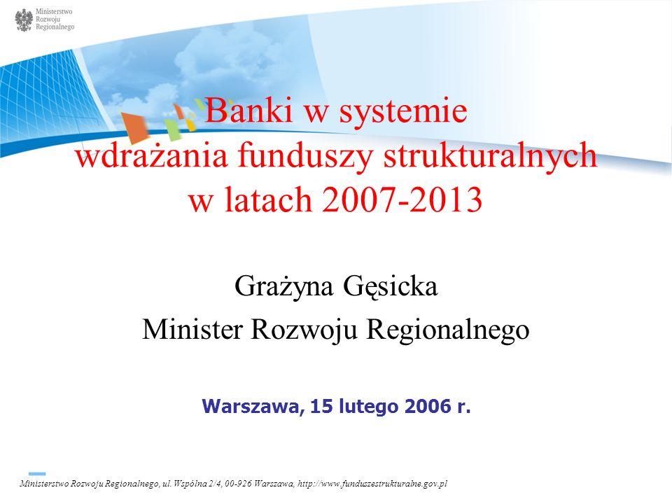 Banki w systemie wdrażania funduszy strukturalnych w latach 2007-2013