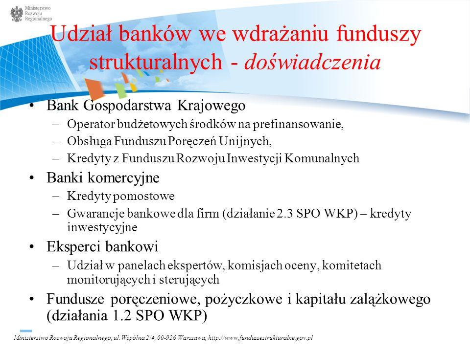 Udział banków we wdrażaniu funduszy strukturalnych - doświadczenia