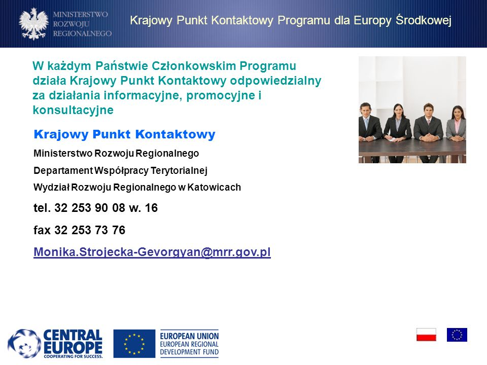 Krajowy Punkt Kontaktowy Programu dla Europy Środkowej
