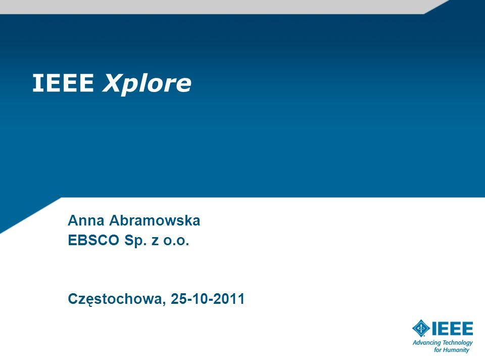 Anna Abramowska EBSCO Sp. z o.o. Częstochowa, 25-10-2011