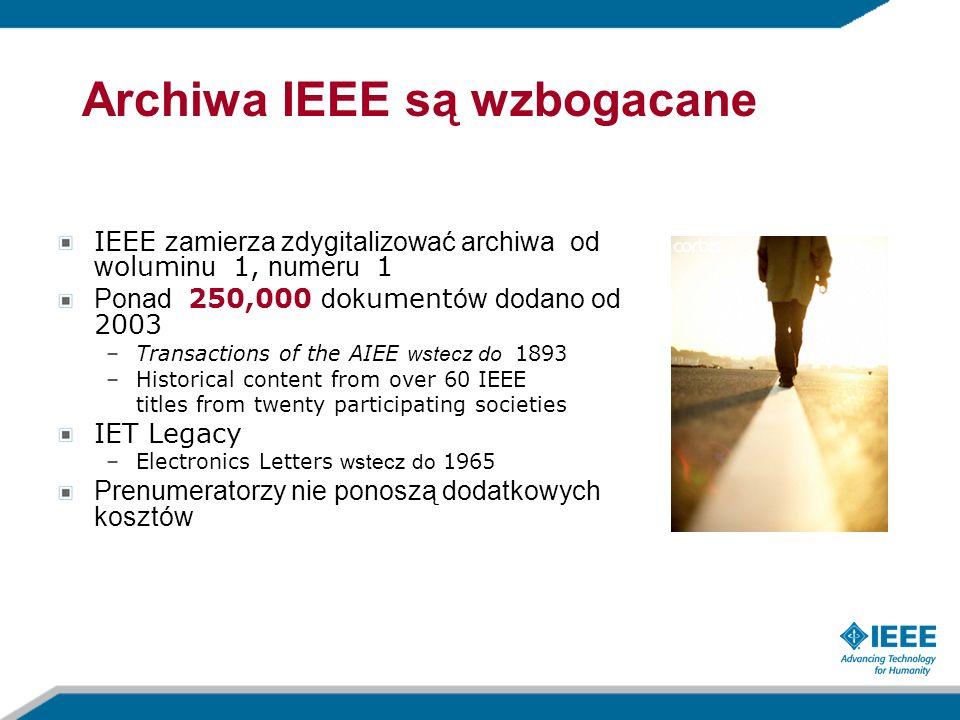 Archiwa IEEE są wzbogacane