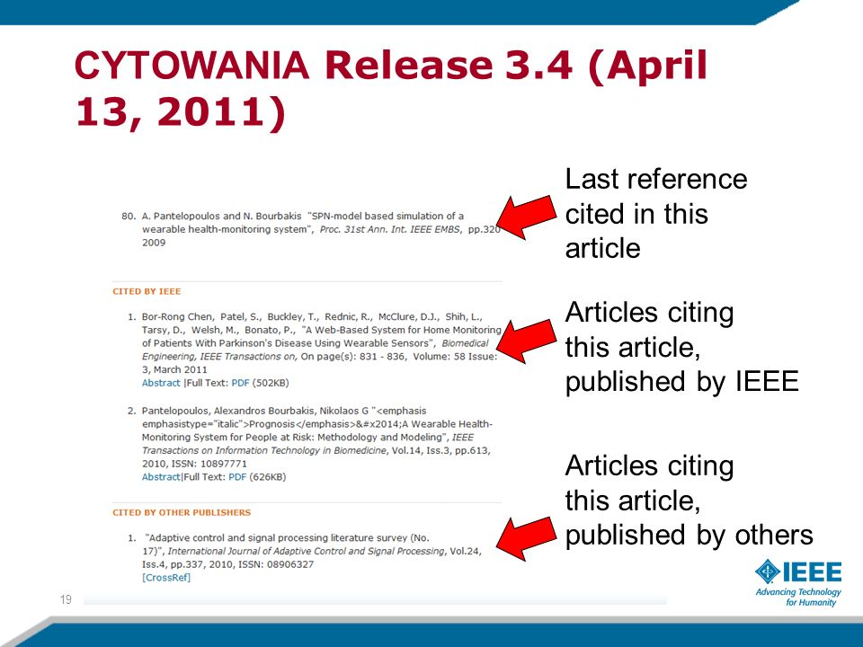 CYTOWANIA Release 3.4 (April 13, 2011)