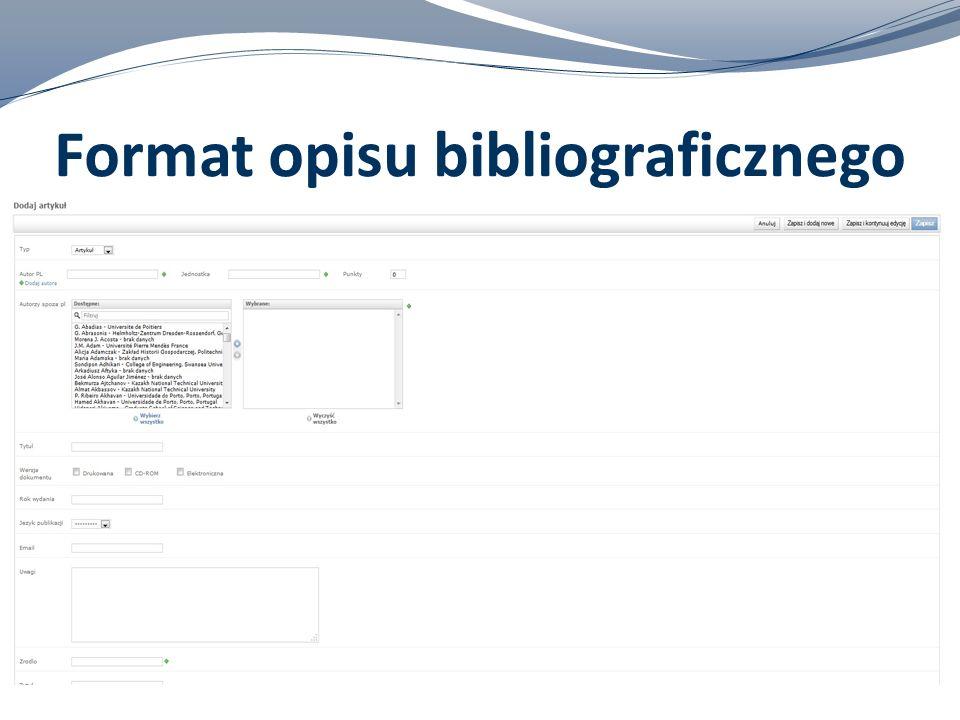 Format opisu bibliograficznego