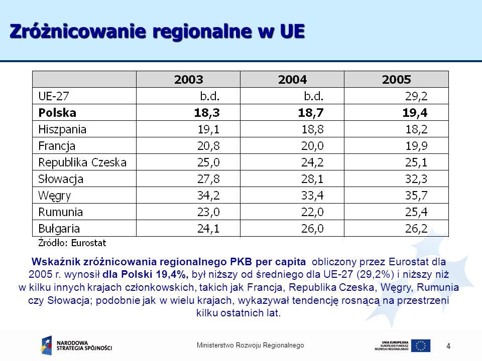 Zróżnicowanie regionalne w UE