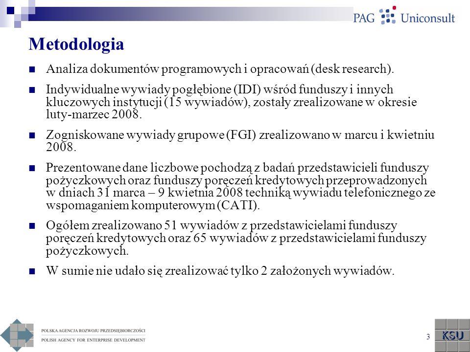 Metodologia Analiza dokumentów programowych i opracowań (desk research).