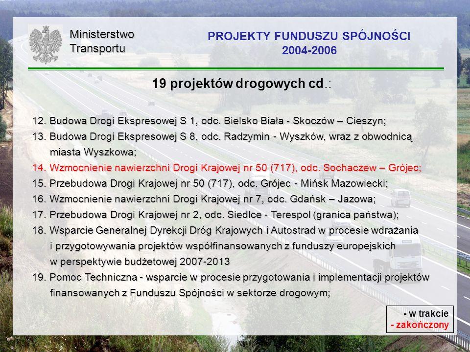 PROJEKTY FUNDUSZU SPÓJNOŚCI 2004-2006