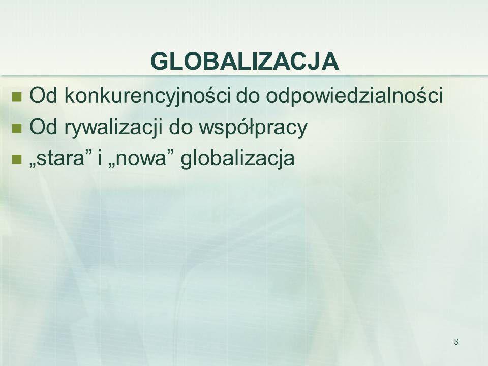 GLOBALIZACJA Od konkurencyjności do odpowiedzialności