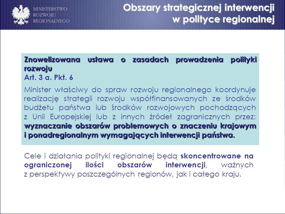 Obszary strategicznej interwencji w polityce regionalnej